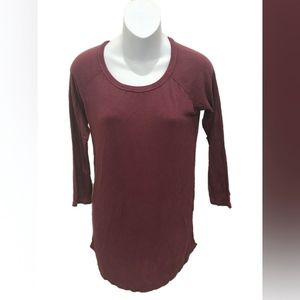 American Eagle Raspberry Long Sleeve T-Shirt